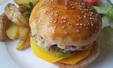 Mango-Lachs-Burger