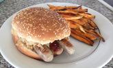 Sauerkraut-Burger mit Nürnberger Rostbratwürstchen