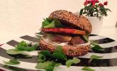 Vegetarischer Kürbis-Burger
