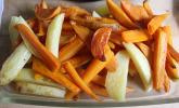 Bunte Gemüsepommes aus dem Backofen