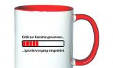 Tasse -Ignoriervorgang einleiten-