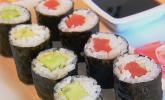 Dünne Sushi-Rollen