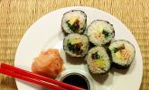 Vegetarische gerollte Sushi (Makizushi)