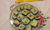 Früchtesushi mit Milchreis