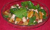 Spinat-Orangen-Putenstreifen-Salat