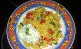 Schnelles Curry-Couscous-Gemüse aus dem Wok