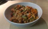 Süßkartoffel-Kichererbsen-Bowl