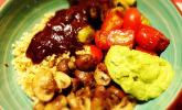 Hoisin Bowl mit geröstetem Rosenkohl und Pilzen