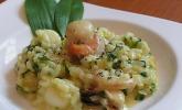 Meeresfrüchte - Risotto mit Bärlauch