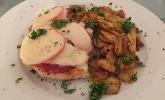 Überbackene Putenschnitzel nach Südtiroler Art