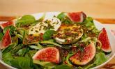 Marinierter Büffelmozzarella auf Feldsalat mit Feigen