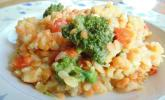 Brokkoli-Risotto mit roten Linsen