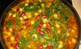 Arabische Kichererbsen-Spinat Suppe