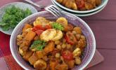 Kürbis Curry mit Bananen
