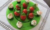 Rezept Frisch gefüllte Gurken mit Lachscreme und Krabben