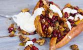Rezept Gebackene Süßkartoffeln gefüllt mit Pilzen
