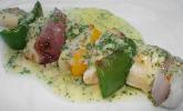 Rezept Gegrillte Tilapia -  Spieße mit Limetten - Wasabi - Dressing