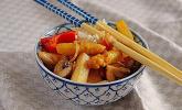 Rezept Gemüsepfanne Thai Style mit weißem Spargel