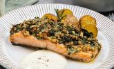 Rezept Lachs mit Parmesan-Kräuter-Walnuss-Kruste