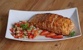 Rezept Lachs vom Grill mit Erdbeer-Salsa