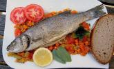 Rezept Loup de Mer mit Salbei auf gedünsteten Gemüse