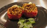 Tomaten mit Safranreis und Paranüssen