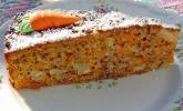 Karottenkuchen mit Paranüssen und Schokostreusel