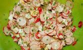 Radieschen - Kresse - Salat mit Leberkäse