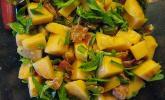 Melonensalat mit Rucola und Minze
