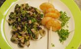 Salat von grünen Linsen
