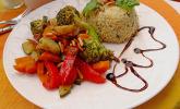 Aromatische Gemüsepfanne mit Couscous