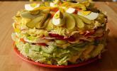 Salatschichttorte