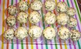 Käse-Schinken Cake Pops mit Kräuterglasur