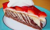 Erdbeer - Zebrakuchen