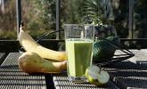 30. Grüner Smoothie mit Erdnussbutter