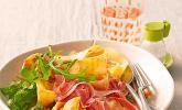 Pasta mit Rucola, Mascarpone und Parmaschinken