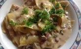 Tortellini in Champignon-Sahne-Sauce