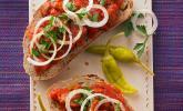 Rohe Zwiebeln auf dem Brot – leider geil!
