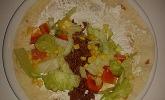 Wraps mit Hackfleisch und Gemüse