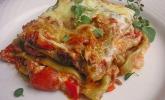 Lasagne mit fruchtiger Paprika-Hackfleisch-Soße