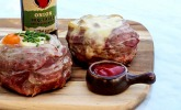 Beer Can Bacon Burger
