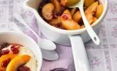 Kompott aus Nektarinen und Cranberries