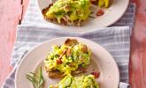 Zucchini - Schinken - Rührei auf Brot