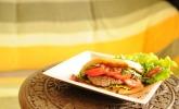 Jackfruit-Sandwich indisches Feuer