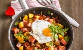 Kartoffel-Leberkäsepfanne