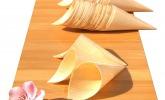 Bambus-Hörnchen für Snacks