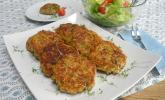 Haferflocken - Käse - Bratling