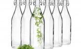 Glasflaschen mit Bürgelverschluss, 6-tlg. Set