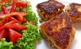 Polentasandwich mit Steinpilzen