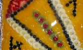 Blechkuchen mit Obst zur Einschulung